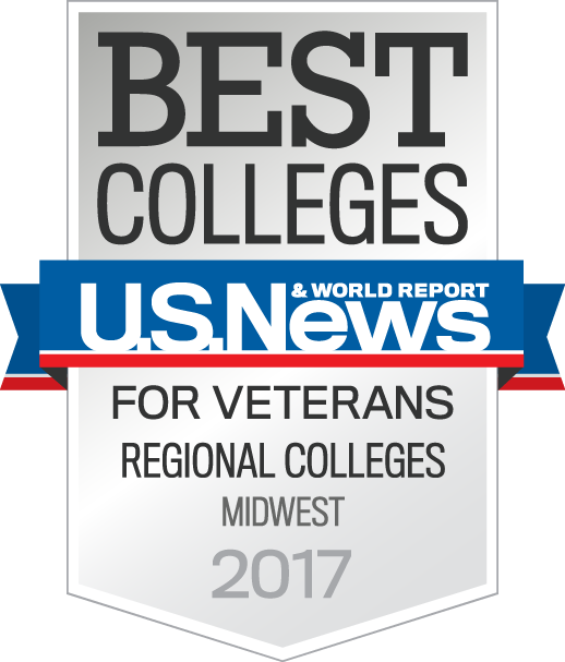 US News and World Report Best Colleges for Veterans badge